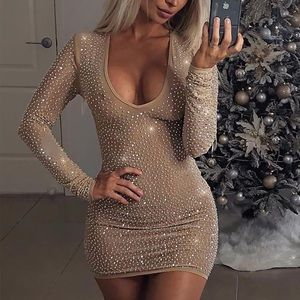 "Fashion Nova ""Isabela"" Rhinestone Dress"